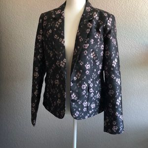VS Gray with shimmering pink flowered blazer